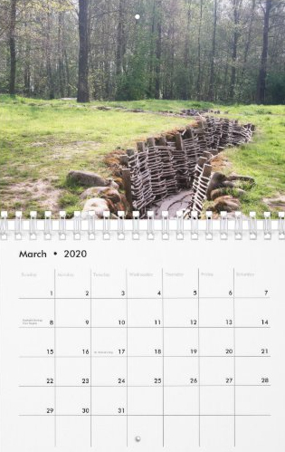 Travel Notes Wall Calendar - March