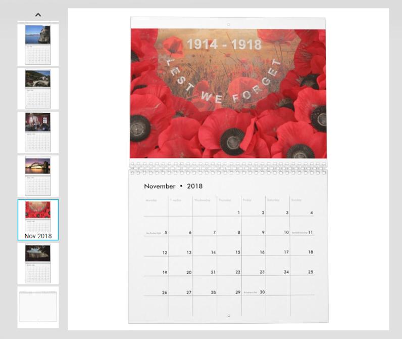 2018 Travel Notes Calendar