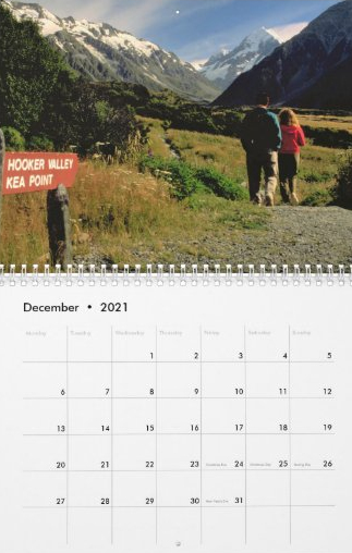 Travel Notes Wall Calendar - December