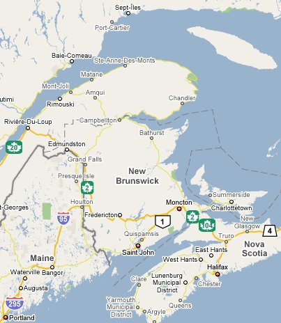 New Brunswick Travel Guide 1800Canada Part of TravelNotesorg