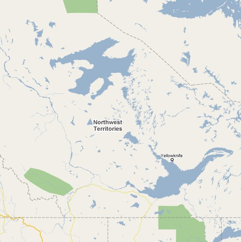 Northwest territories travel guide 1800 canada part of map of northwest territories gumiabroncs Gallery