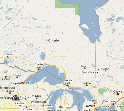 Ontario travel guide 1800 canada part of travelnotes map of ontario gumiabroncs Gallery
