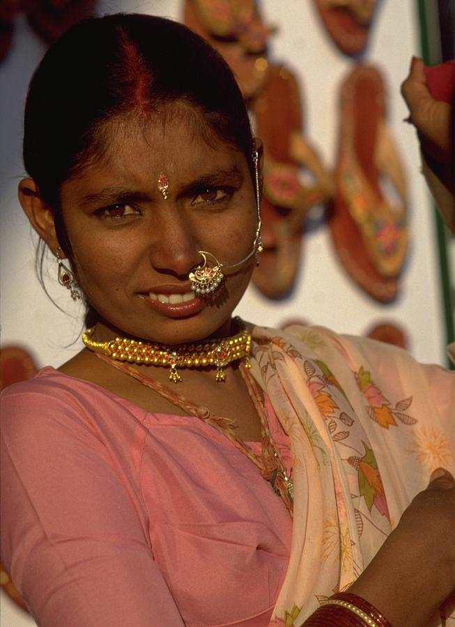 Facial Jewellery of Indian Girl in Rajasthan Travel Photography