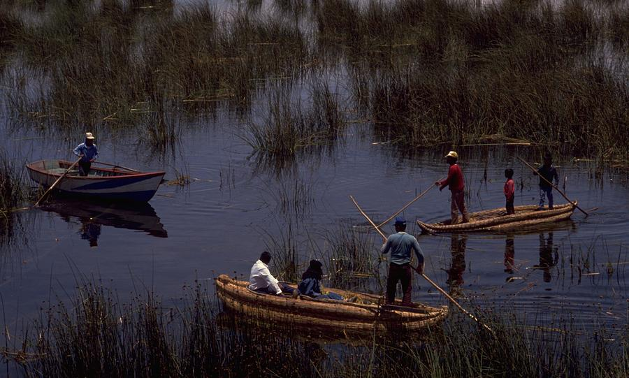 Lake Titicaca Reed Boats, Peru Travel Photography
