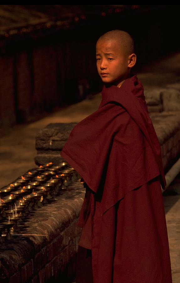 Boy Buddhist in Bodh Gaya, India Travel Photography