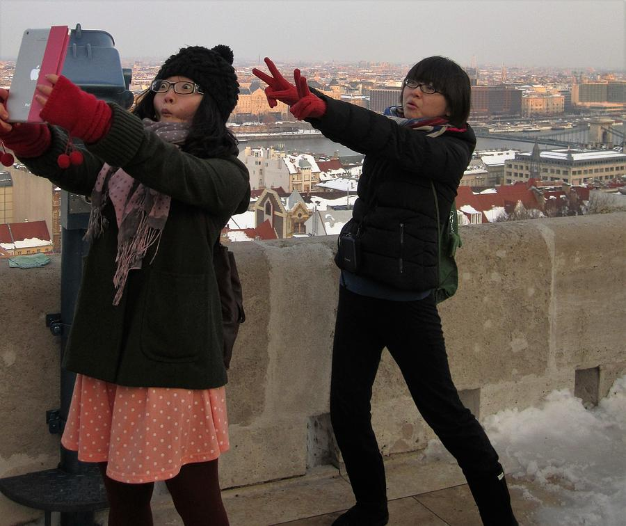 Tourists in Budapest, Hungary Travel Photography