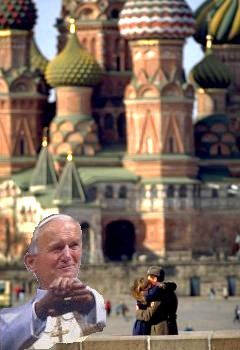Pope John Paul II in Russia, as he would have wished it.